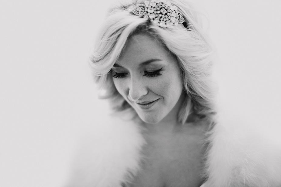 winter bridal dress