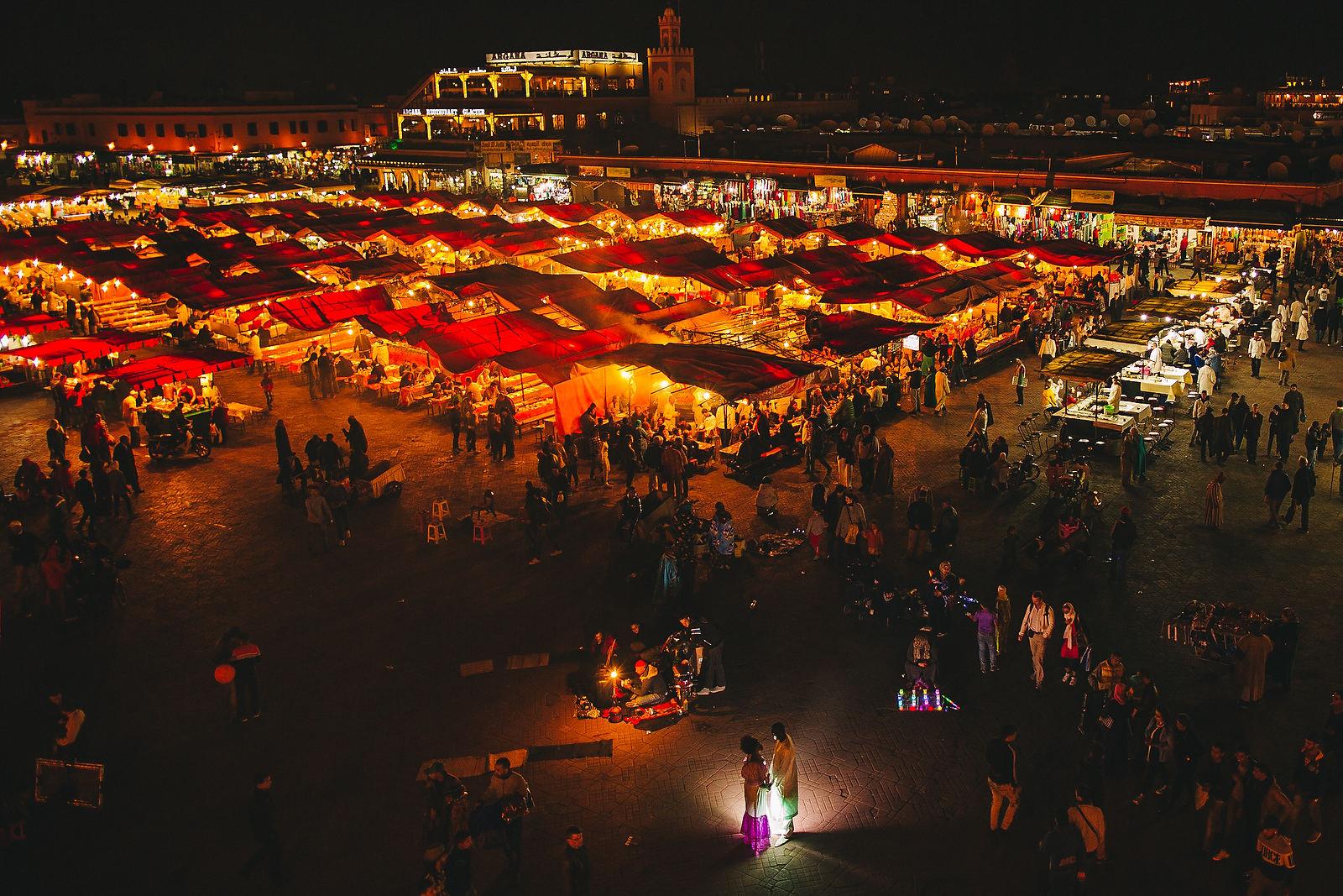 marrakech square wedding photos