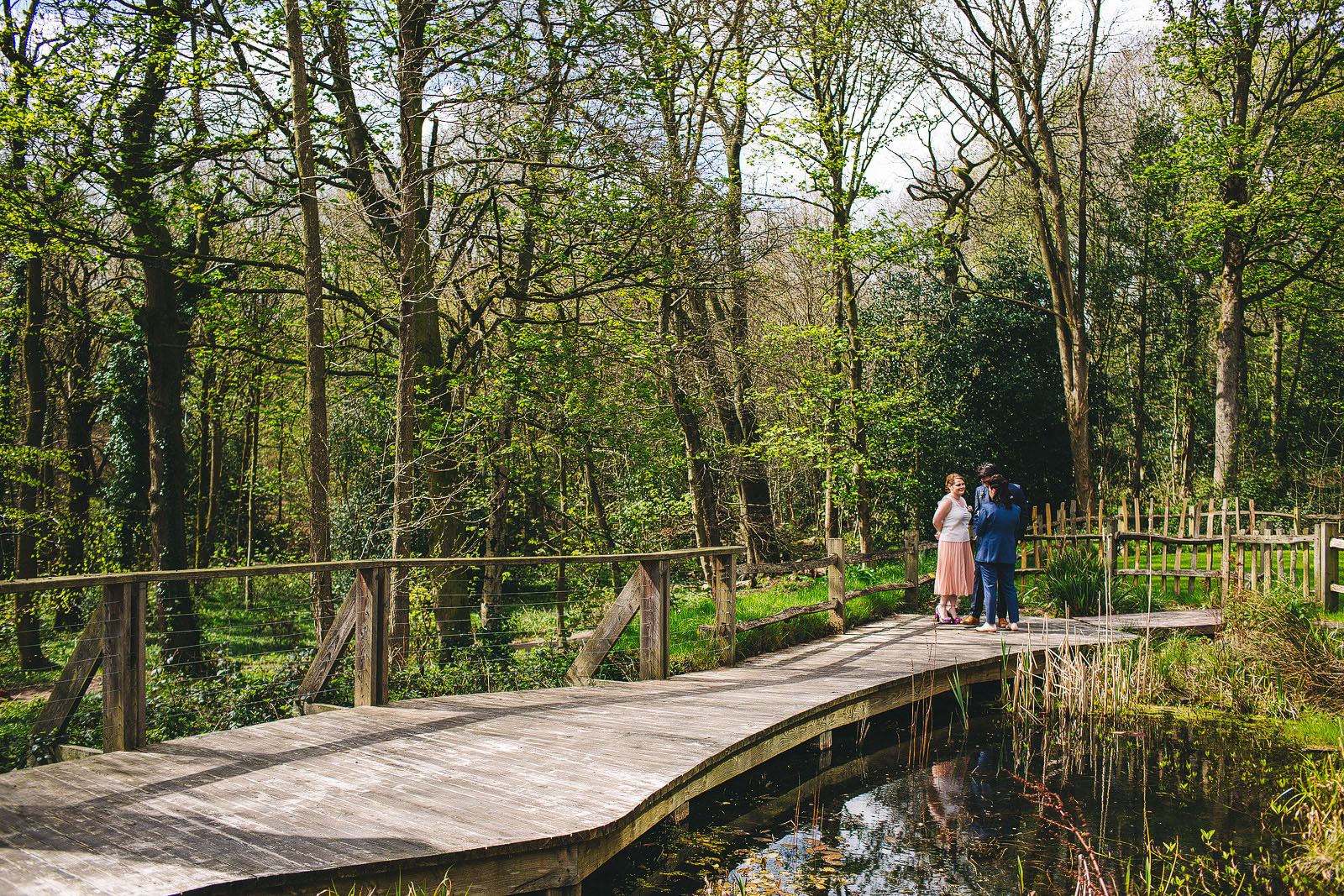 Industrial wedding Sheffield Ecclesall woods