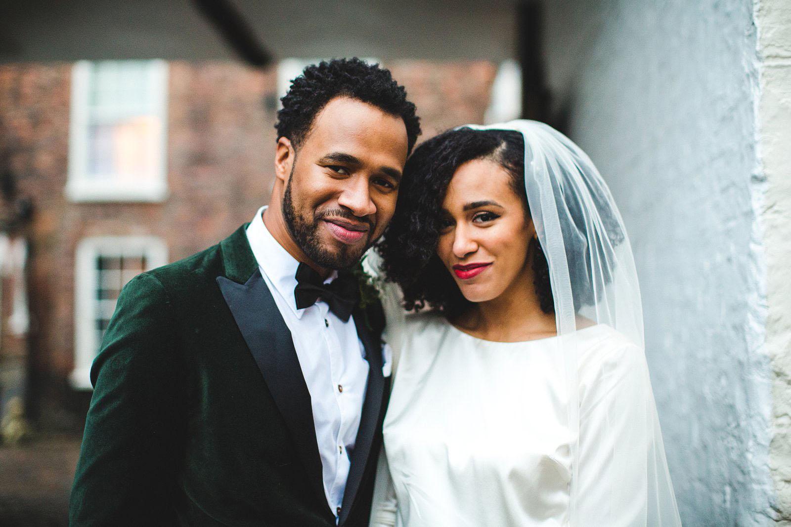 cool wedding couple
