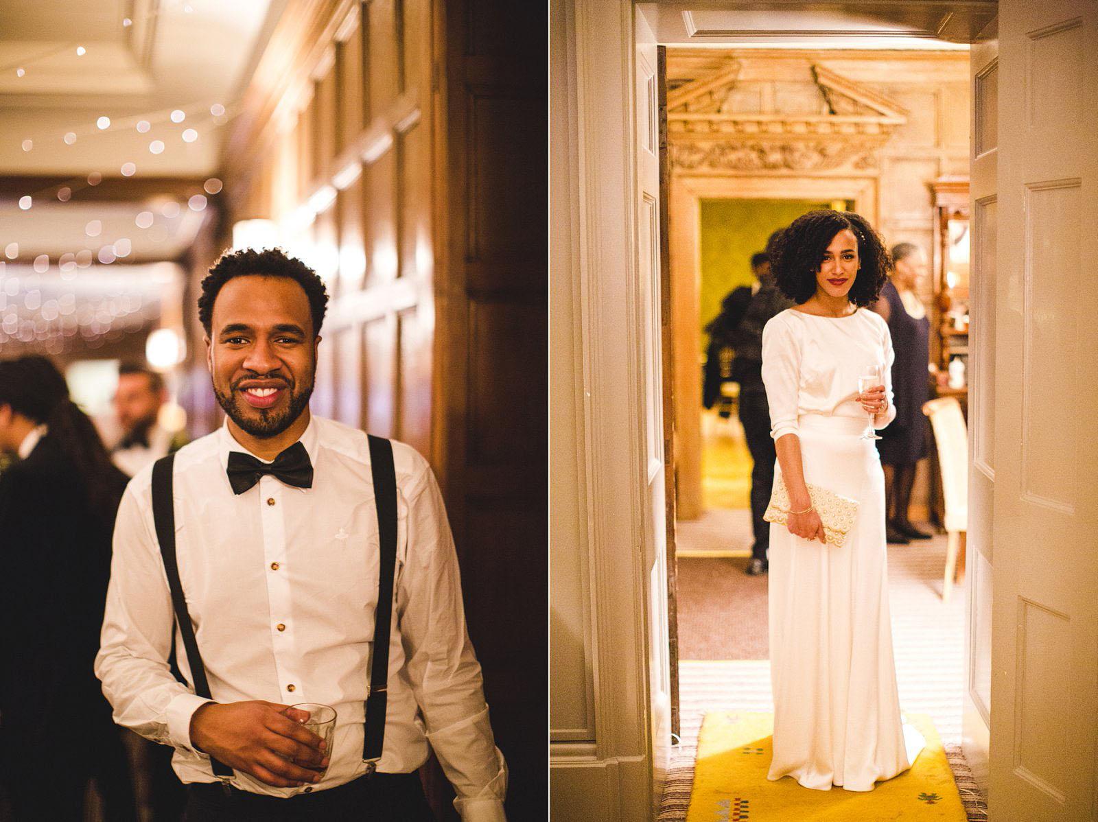 stylish wedding couple