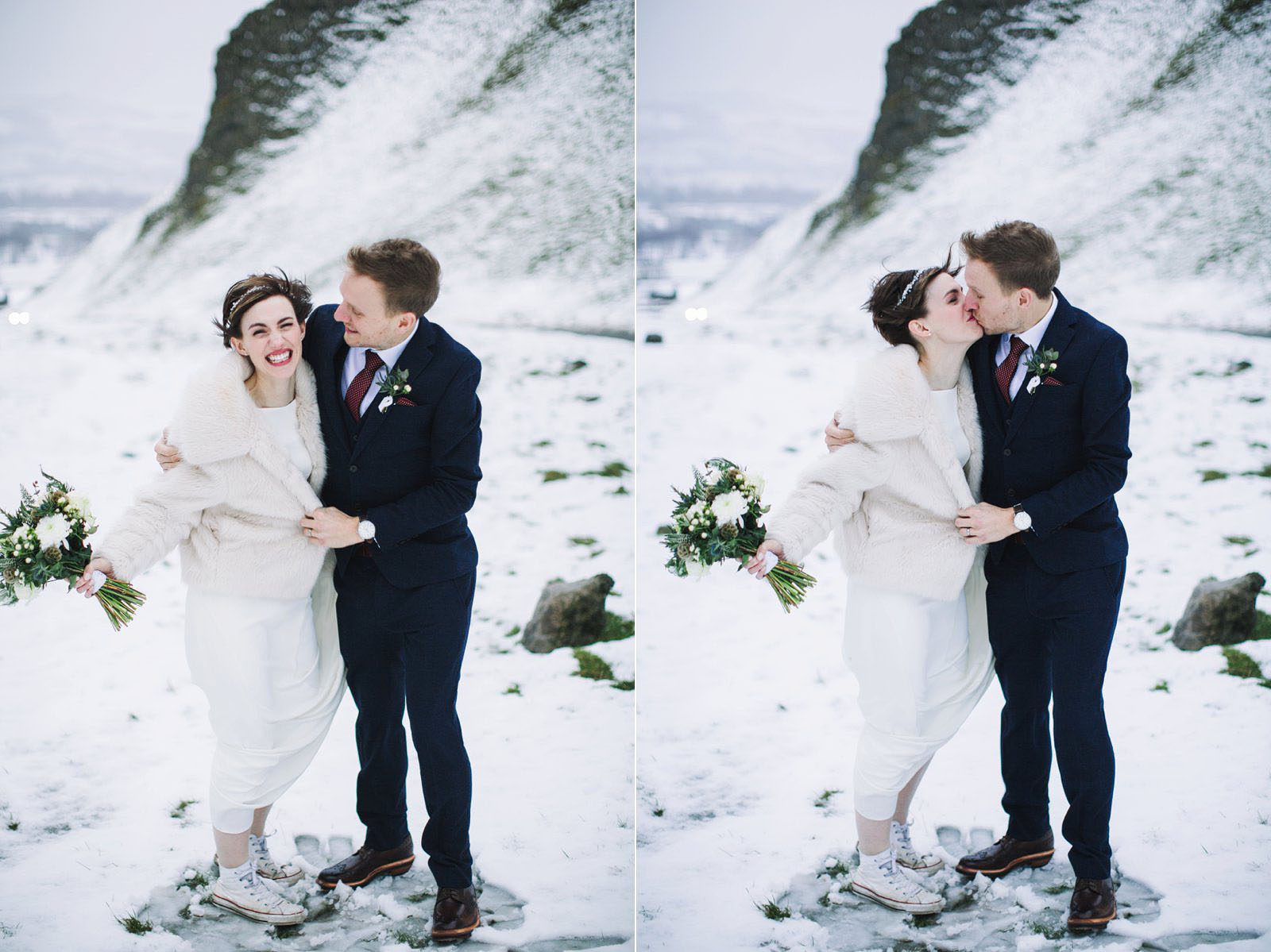 snow wedding photos