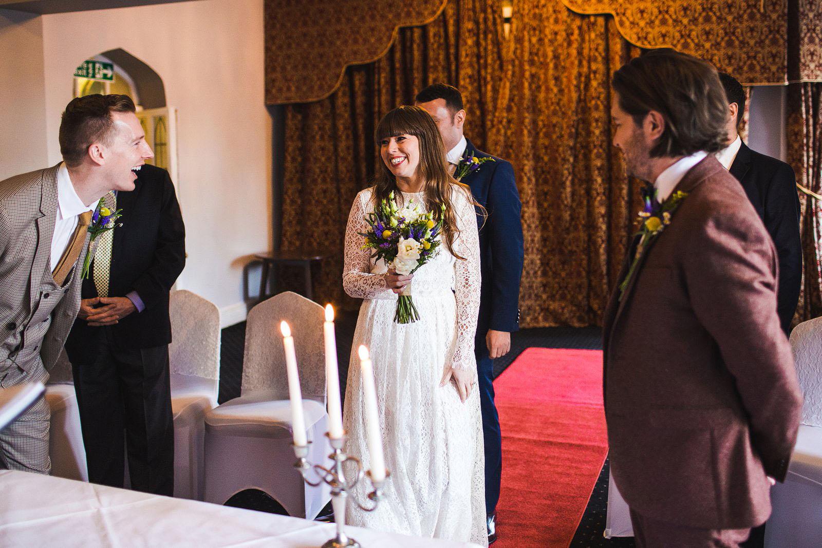 Ruthin Castle wedding