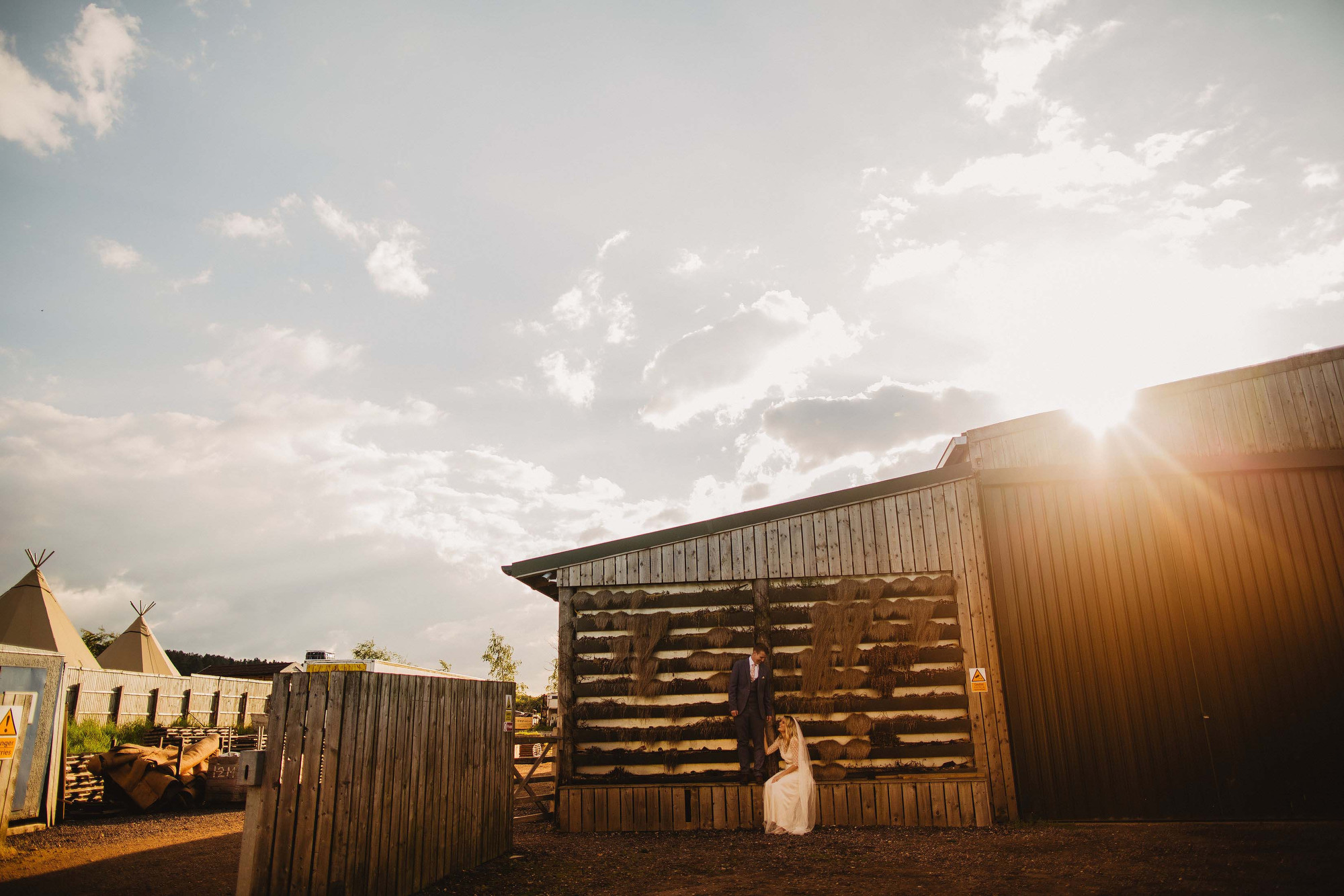 Inkersall farm wedding