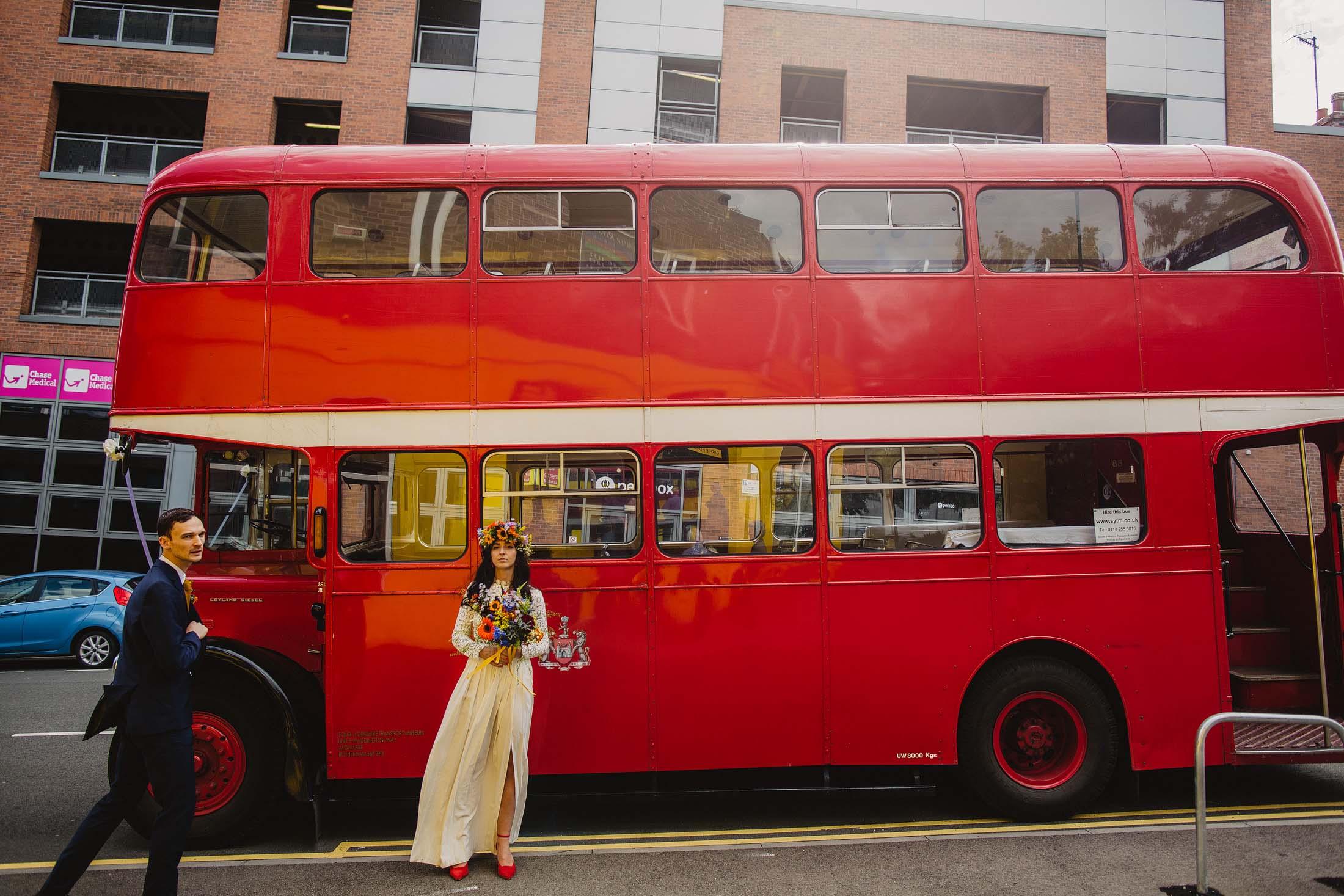 Sheffield wedding bus