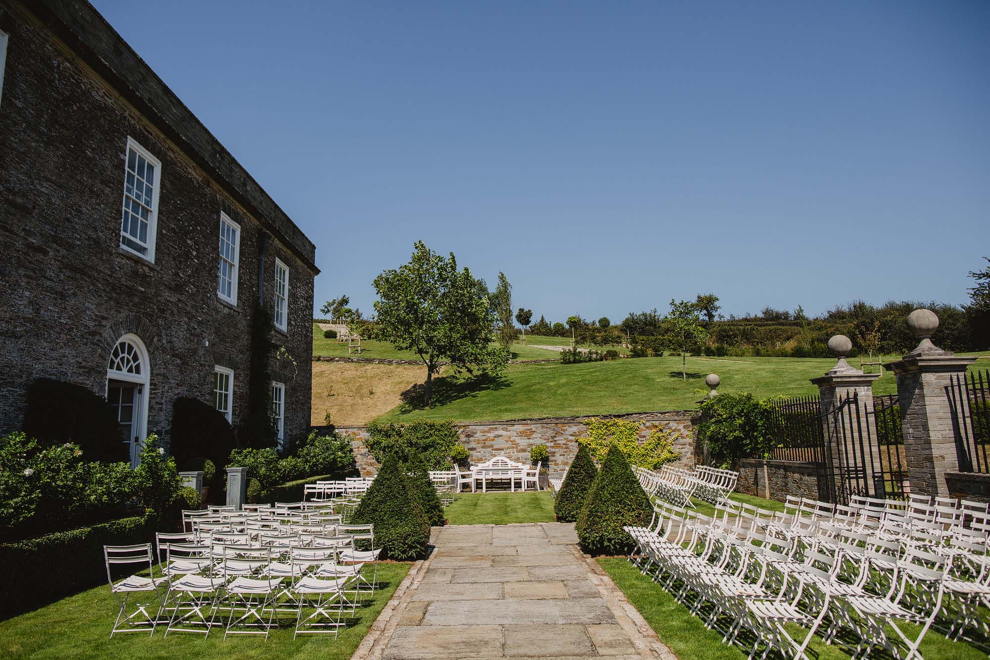 Outdoor Devon wedding venue